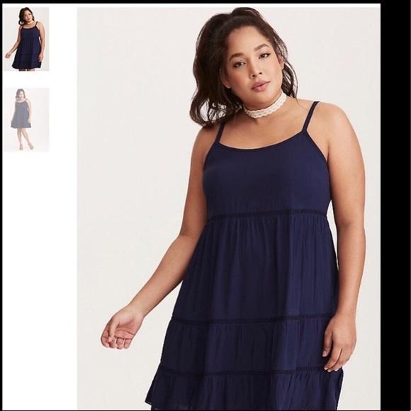 256ce9c5ff6 Navy blue torrid dress. M 5a7d1837f9e501c1f4106d73